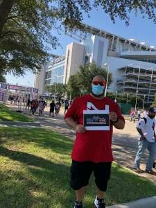 Juan Salazar attended Houston Texans vs. Minnesota Vikings - NFL on Oct 4th 2020 via VetTix