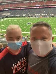David attended Houston Texans vs. Minnesota Vikings - NFL on Oct 4th 2020 via VetTix
