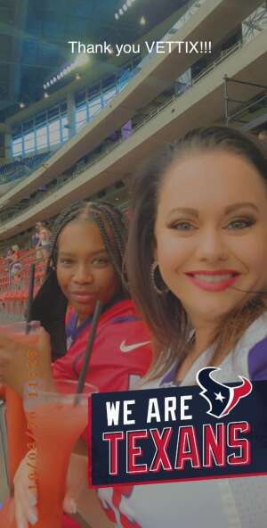 Denicia attended Houston Texans vs. Minnesota Vikings - NFL on Oct 4th 2020 via VetTix