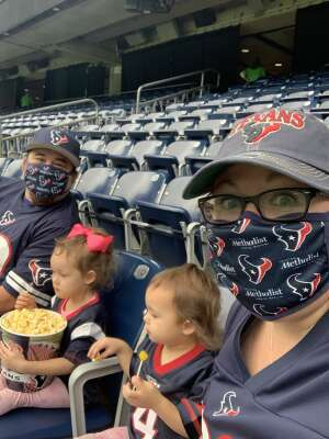 Swingle family  attended Houston Texans vs. Minnesota Vikings - NFL on Oct 4th 2020 via VetTix