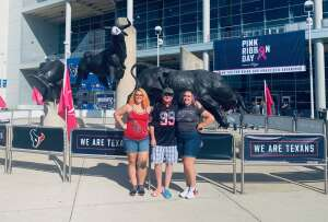 MSgt Ed Kraft attended Houston Texans vs. Minnesota Vikings - NFL on Oct 4th 2020 via VetTix