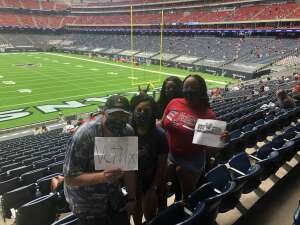 John Sullivan attended Houston Texans vs. Minnesota Vikings - NFL on Oct 4th 2020 via VetTix