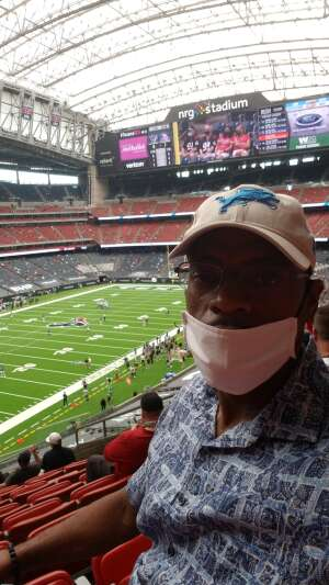 Tim Kimble  attended Houston Texans vs. Minnesota Vikings - NFL on Oct 4th 2020 via VetTix