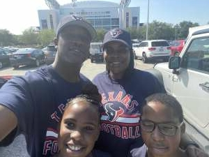 DeShaunda attended Houston Texans vs. Minnesota Vikings - NFL on Oct 4th 2020 via VetTix