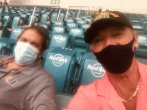 Bruce C attended University of Miami Hurricanes vs. Pittsburgh - NCAA Football on Oct 17th 2020 via VetTix