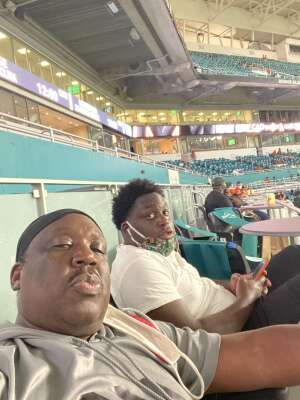 Fred  attended University of Miami Hurricanes vs. Pittsburgh - NCAA Football on Oct 17th 2020 via VetTix