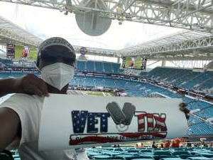 Liz Shephard  attended University of Miami Hurricanes vs. Pittsburgh - NCAA Football on Oct 17th 2020 via VetTix