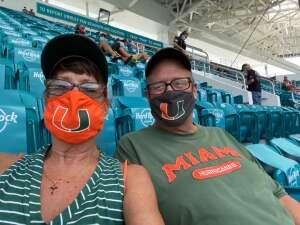 Susan White attended University of Miami Hurricanes vs. Pittsburgh - NCAA Football on Oct 17th 2020 via VetTix