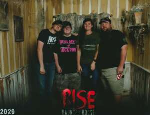 The Shinnaberry's attended Rise Haunted House - Friday Only on Oct 10th 2020 via VetTix