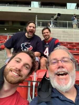 RussellJ attended Houston Texans vs. Jacksonville Jaguars - NFL on Oct 11th 2020 via VetTix