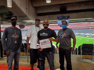 Vincent attended Houston Texans vs. Jacksonville Jaguars - NFL on Oct 11th 2020 via VetTix