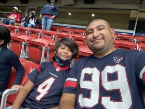 Big Abe attended Houston Texans vs. Jacksonville Jaguars - NFL on Oct 11th 2020 via VetTix