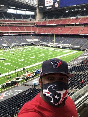 J Clinkscales attended Houston Texans vs. Jacksonville Jaguars - NFL on Oct 11th 2020 via VetTix
