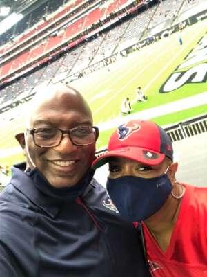 Terry Stith attended Houston Texans vs. Jacksonville Jaguars - NFL on Oct 11th 2020 via VetTix