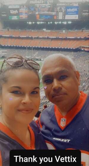 Joel & Nina attended Houston Texans vs. Jacksonville Jaguars - NFL on Oct 11th 2020 via VetTix