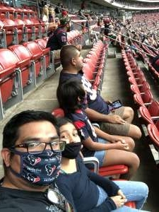 Omar attended Houston Texans vs. Jacksonville Jaguars - NFL on Oct 11th 2020 via VetTix