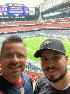 Mike Garcia attended Houston Texans vs. Jacksonville Jaguars - NFL on Oct 11th 2020 via VetTix