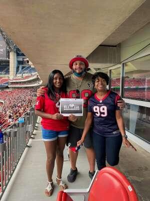 David  attended Houston Texans vs. Jacksonville Jaguars - NFL on Oct 11th 2020 via VetTix