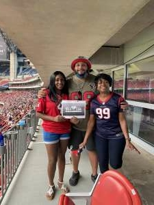 Ash attended Houston Texans vs. Jacksonville Jaguars - NFL on Oct 11th 2020 via VetTix