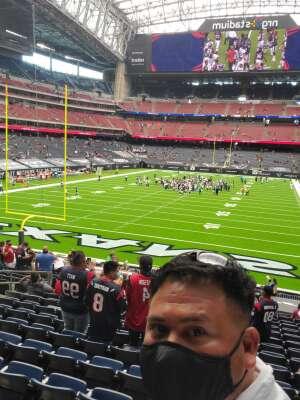 Bobby attended Houston Texans vs. Jacksonville Jaguars - NFL on Oct 11th 2020 via VetTix
