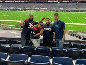 Walter J Andino jr  attended Houston Texans vs. Jacksonville Jaguars - NFL on Oct 11th 2020 via VetTix