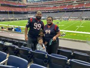 Genevieve Andino attended Houston Texans vs. Jacksonville Jaguars - NFL on Oct 11th 2020 via VetTix