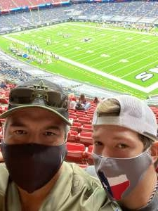 Richard attended Houston Texans vs. Jacksonville Jaguars - NFL on Oct 11th 2020 via VetTix