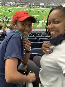 Stefanie attended Houston Texans vs. Jacksonville Jaguars - NFL on Oct 11th 2020 via VetTix