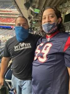 Miguel Gonzales attended Houston Texans vs. Jacksonville Jaguars - NFL on Oct 11th 2020 via VetTix