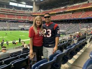 Carlos attended Houston Texans vs. Jacksonville Jaguars - NFL on Oct 11th 2020 via VetTix