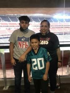 Mary Sandoval  attended Houston Texans vs. Jacksonville Jaguars - NFL on Oct 11th 2020 via VetTix