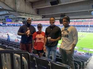 Dakari attended Houston Texans vs. Jacksonville Jaguars - NFL on Oct 11th 2020 via VetTix