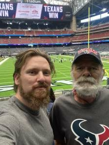 Jr attended Houston Texans vs. Jacksonville Jaguars - NFL on Oct 11th 2020 via VetTix