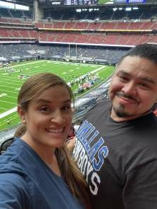 Nanette Beltran attended Houston Texans vs. Jacksonville Jaguars - NFL on Oct 11th 2020 via VetTix