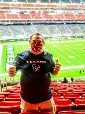 Ken Murray attended Houston Texans vs. Jacksonville Jaguars - NFL on Oct 11th 2020 via VetTix