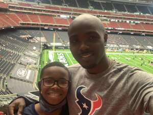 DK attended Houston Texans vs. Jacksonville Jaguars - NFL on Oct 11th 2020 via VetTix