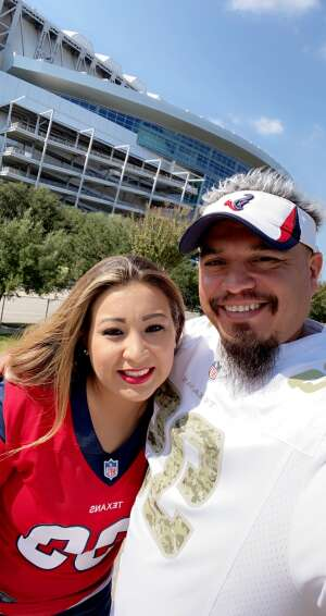SgtAguilar attended Houston Texans vs. Jacksonville Jaguars - NFL on Oct 11th 2020 via VetTix