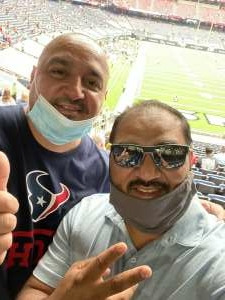 Robert Bolanos attended Houston Texans vs. Jacksonville Jaguars - NFL on Oct 11th 2020 via VetTix
