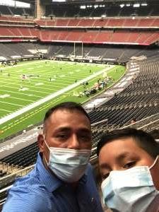 Juan attended Houston Texans vs. Jacksonville Jaguars - NFL on Oct 11th 2020 via VetTix