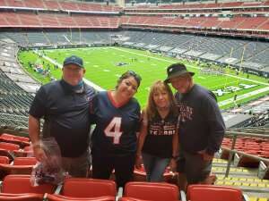 Randall Fields attended Houston Texans vs. Jacksonville Jaguars - NFL on Oct 11th 2020 via VetTix