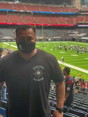 Chris attended Houston Texans vs. Jacksonville Jaguars - NFL on Oct 11th 2020 via VetTix