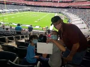 Denise Tijerina attended Houston Texans vs. Jacksonville Jaguars - NFL on Oct 11th 2020 via VetTix
