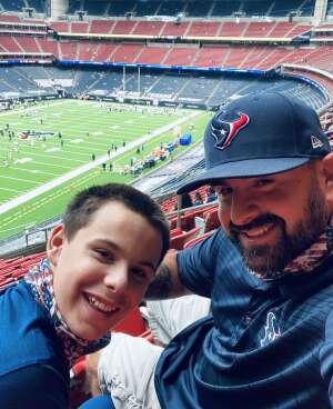 Harvey Joseph Vinklarek II attended Houston Texans vs. Jacksonville Jaguars - NFL on Oct 11th 2020 via VetTix