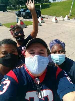 Yolanda Rae Hill attended Houston Texans vs. Jacksonville Jaguars - NFL on Oct 11th 2020 via VetTix