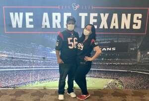JANETTE VILLEGAS attended Houston Texans vs. Jacksonville Jaguars - NFL on Oct 11th 2020 via VetTix