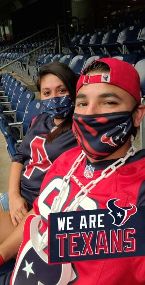 Joseph Paul Rosales attended Houston Texans vs. Jacksonville Jaguars - NFL on Oct 11th 2020 via VetTix