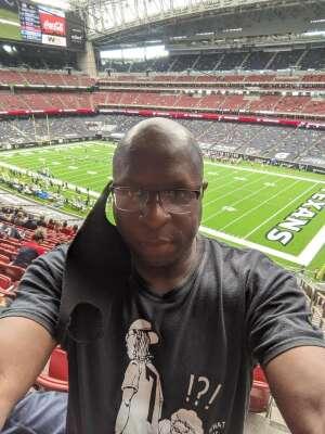 LaFonzo Prince attended Houston Texans vs. Jacksonville Jaguars - NFL on Oct 11th 2020 via VetTix