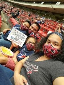Robert H. attended Houston Texans vs. Jacksonville Jaguars - NFL on Oct 11th 2020 via VetTix