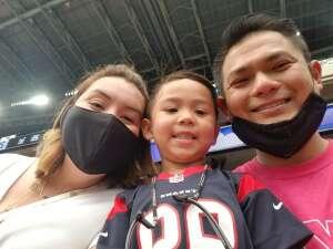 NguyenK attended Houston Texans vs. Jacksonville Jaguars - NFL on Oct 11th 2020 via VetTix