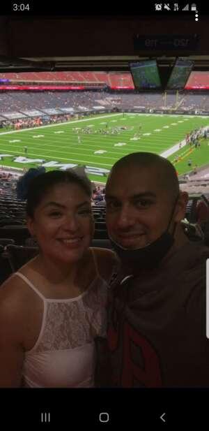 Elizabeth  attended Houston Texans vs. Jacksonville Jaguars - NFL on Oct 11th 2020 via VetTix